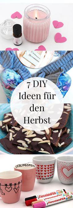 DIY und Deko Ideen für den Herbst. So könnt Ihr euch die kalte Jahreszeit mit basteln und Dekoration versüßen. Sieben schöne DIY Bastelideen und Geschenke für den Herbst.