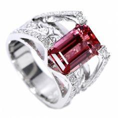 ブラジル産インペリアルトパーズリング(指輪) 4.4ct プラチナ ダイヤモンド imperial topaz   http://www.rejou.jp/?pid=88101214