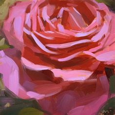 """Simply Rosy"" - Original Fine Art for Sale - © Carol Marine"