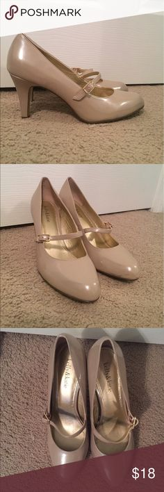 Kelly & Katie Nude Heal - Size 9.5 Kelly and Katie nude heal. Size 9.5. Round toe. Patent leather. Worn once - like new!! I wore these to a wedding and they are awesome! Super comfortable and cute:) Kelly & Katie Shoes Heels