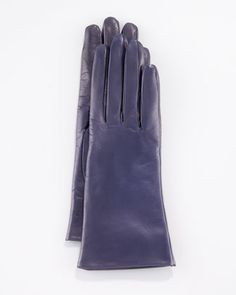Two-Button Classic Gloves, Mysterioso Navy by Portolano at Neiman Marcus.#NMFallTrends