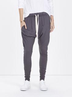 slouch jersey pant III / dark graphite Fair Trade, Graphite, Sustainable Fashion, Sweatpants, Dark, Graffiti, Fair Trade Fashion, Sweat Pants, Jumpsuits