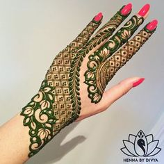 Mehndi Designs For hands - we made a detailed guide of mehndi designs for hands that can help you decide your upcoming mehendi look! Henna Hand Designs, Mehndi Designs Finger, Mehndi Designs 2018, Modern Mehndi Designs, Mehndi Designs For Girls, Mehndi Design Photos, Beautiful Henna Designs, Tattoo Designs, Mehandi Designs New
