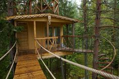 Swedish treehouse - I want to go to there
