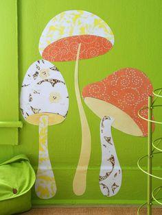 Mushroom fabric display