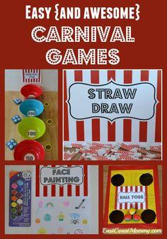 Carnival Game Signs, Carnival Activities, Diy Carnival Games, Carnival Games For Kids, Spring Carnival, Carnival Themed Party, Carnival Birthday Parties, Circus Birthday, Kids Party Games