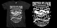 """United By Pain"" t-shirt design by roach"