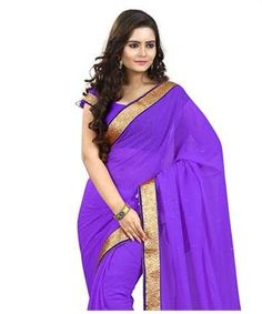 Chiffon Saree with Blouse | I found an amazing deal at fashionandyou.com and I bet you'll love it too. Check it out!
