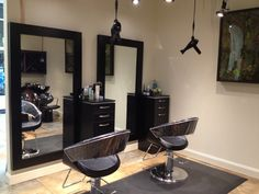 Salon stations salon stations, hair stations, home salon, home hair salons, Home Hair Salons, Home Salon, Hair Salon Stations, Small Salon, Beauty Salon Decor, Salon Style, Salon Design, Interior Design, Decoration
