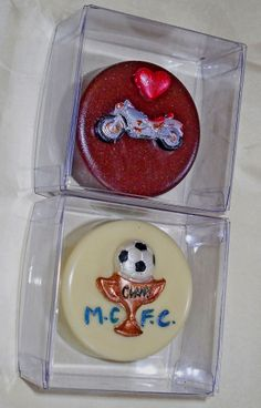 Solid choc discs or a hidden Oreo inside...decorated with their favourite things.