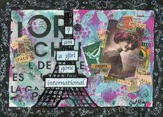 Angelina - Just Mary Designs Paris Street, Parisian, Falling In Love, Original Art, My Arts, Mary, Painting, Design, Painting Art