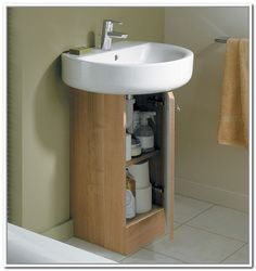 20 Pedestal Sink Storage With E Saving Features Aida Homes
