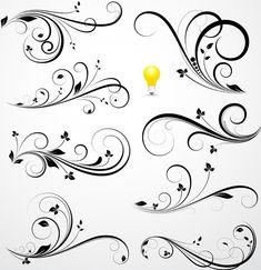 Flourish-Swirl-Floral-Corner-Patterns-Vector-04.jpg (577×596)