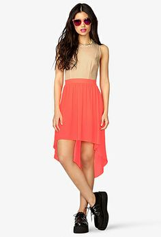 High-Low Cutout Bow Dress | FOREVER21 - 2023246403