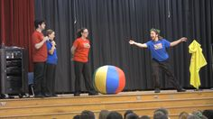 Improv 4 Kids performs at school assemblies. http://www.improv4kids.com/booking