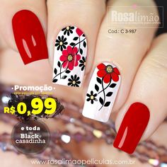 What Christmas manicure to choose for a festive mood - My Nails Flower Nail Designs, Diy Nail Designs, Flower Nail Art, Nail Art Designs Videos, French Tip Nails, Nail Decorations, Fabulous Nails, Winter Nails, Summer Nails