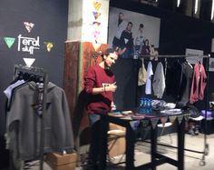 Fun at work #fair #showandorder #feralstuff #Sweater #cozy #berlinfashionweek #Fashion #brand #basedinhamburg