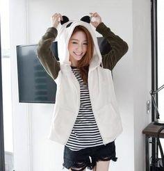 Cute Black Panda Hooded Jacket
