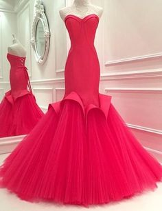 Rose Pink Prom Dresses,Sweetheart Prom Dress,Off The Shoulder Prom Dresses,Lace Up Prom Gowns, Ruffles Prom Dresses,Organza Prom Dress,Sexy Prom Dresses,Mermaid Prom Dresses,Floor Length Prom Dresses