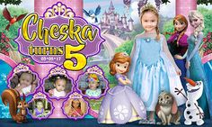 Editable Frozen and Sophia the Tarpaulin Design in PSD Format ~ theHANDrawn – Rom Salvar Sofia The First Birthday Party, 14th Birthday, Frozen Birthday, Layout Site, Layout Design, Birthday Tarpaulin Design, Classroom Incentives, Cute Gif, Disney Frozen