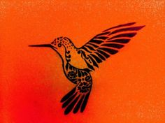 Hummingbird tattoo. I LOVE THIS but with white ink.