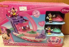 Disney Minnie Mouse Vacation at Sea Boat Playset Daisy New jet skis toy NIB gift in Toys & Hobbies | eBay