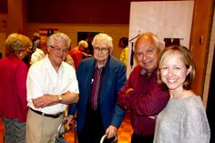 May Dallas Jewish Artists Showcase--Jerry Skibell, artist, on left
