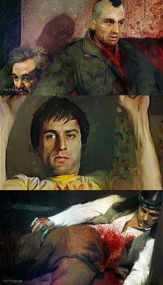 Fan-Art Taxi Driver - At the beginning of this new series of works began to take characters from The popular culture, both musical, such as film, in order to attempt a new list of people giving Aa space in the art world. The Color Of Money, The Last Waltz, Gangs Of New York, The Age Of Innocence, Wolf Of Wall Street, Movie Shots, Nerd Art, Martin Scorsese, Taxi Driver