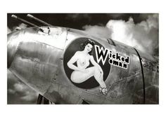 Vintage Airplanes Nose Art, Wicked Woman Pin-Up Premium Poster - Nose Art, Pin Up Posters, Retro Posters, Art Posters, Vintage Posters, Aircraft Painting, Airplane Art, Vintage Airplanes, Aircraft Design