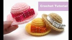 Easy Crochet Amigurumi Tutorial - Doll Hat - YouTube