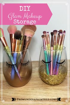The Fundamentals Of Vanity Organization Diy Dollar Tree Organizing Ideas Rev. The Fundamentals Of Vanity Organization Diy Dollar Tree Organizing Ideas Revealed 51 Diy Makeup Organizer, Makeup Storage Organization, Bathroom Organization, Storage Organizers, Organization Ideas, Storage Ideas, Storage Jars, Bathroom Storage, Diy Makeup Brush