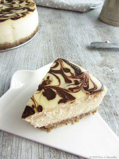 Coco e Baunilha: Cheesecake mármore de coco e chocolate