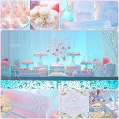 Winter Wonderland Dessert Table | Calligraphy by Jennifer