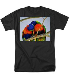 Two Men's T-Shirt (Regular Fit) featuring the photograph Love Birds by Cynthia Guinn