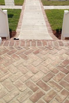 We are doing this to our front sidewalk! Bricks on the side! :) LOVE IT!
