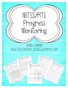 FREE MTSS/RTI progress monitoring pages for Tier 1, Tier 2, and Tier 3 students!  Awesome resources for documenting interventions!