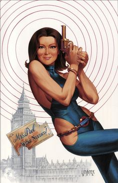 Emma Peel - not exactly a superhero, but still, very cool pic!= the Avengers T.V show Emma Peel, The Avengers, The Original Avengers, Avengers Series, James Bond, Kung Fu, Detective, Diana Riggs, Science Fiction