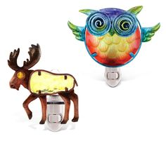 Puzzled Night Light Moose and Owl -- More info could be found at the image url. (This is an affiliate link and I receive a commission for the sales)