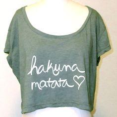 Hakuna Matata Crop Top von KindLabel auf Etsy