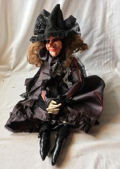 Kitchen Witch Ooak Art Folk Doll Halloween Decoration  | eBay