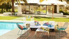 Contemporary Cabana Outdoor Room by Shutterfly