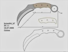 Cool Knives, Knives And Tools, Knives And Swords, Knife Drawing, Knife Template, Knife Making Tools, Knife Patterns, Diy Knife, Sword Design