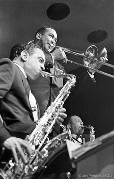 Members of The Duke Ellington Band Paul Gonsalves,Lawrence Brown & Johnny Hodges,Dansetten,Tivoli Garden Copenhagen 1962