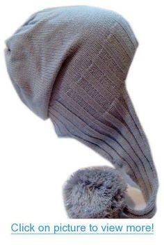 Winter Hat for Girls Pom Pom Ear Flap Hat Warm Fleece Lining Slouchy BeanieM-162