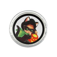 A Girl in Kitty Costume Photo Ring - cat cats kitten kitty pet love pussy