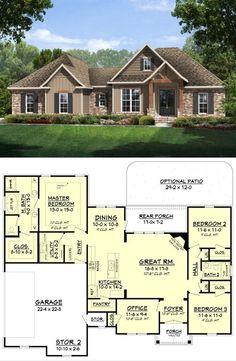 Modern Craftsman Style Home Plan