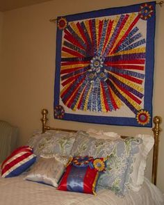 Displaying ribbons, wallhanging. Picasa Web Albums - Sharon Harris