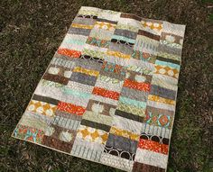 Optimism QUilt - random strips to use up scraps