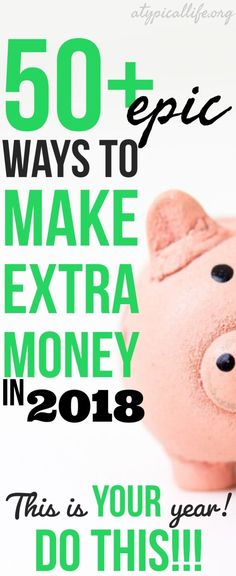 Want to make extra money? You are in the right place! This list of 50+ hand-picked ways to make extra money helps you earn money today and keep earning money into the future! Make money   make extra money   side hustles   work at home job   make money online