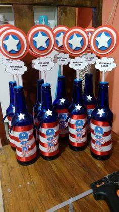 Ideias Super Herois Capitao america centro de mesa